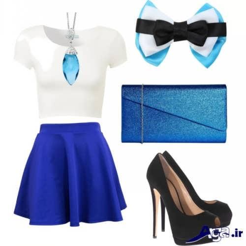 مدل ست آبی لباس مجلسی