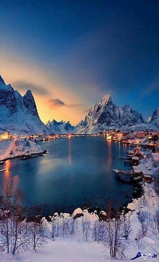 عکس منظره زیبا در نروژ