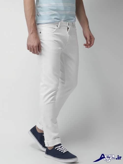 مدل شلوار سفید و شیک مردانه