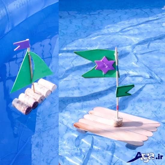 انواع کاردستی کشتی و قایق کاغذی برای کودکان