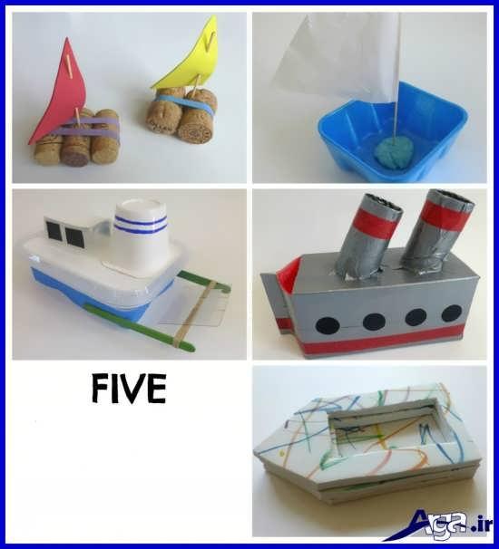 انواع کاردستی قایق برای کودکان