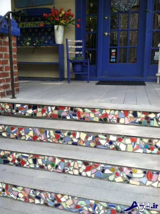 انواع تزیین و سنگ فرش برای پله ها