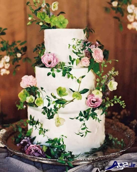 تزییین کیک عروسی برا ی سفره عقد