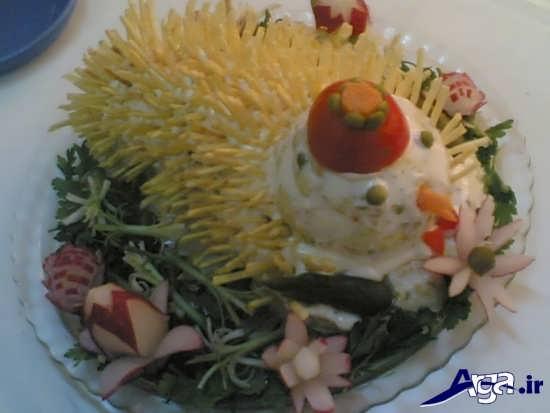 عکس یک نوع غذای آماده شده مخصوص عروس