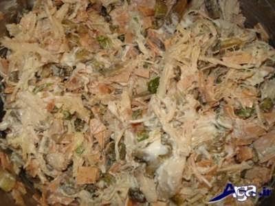 درست کردن گراتن مرغ و قارچ درفر