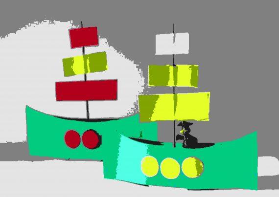 طرح زیبای کاردستی قایق برای بچه ها