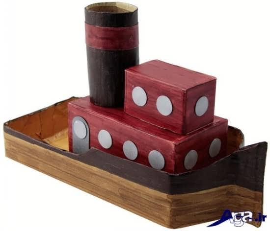 انواع طرحهای فانتزی قایقهای کاردستی برای کودکان