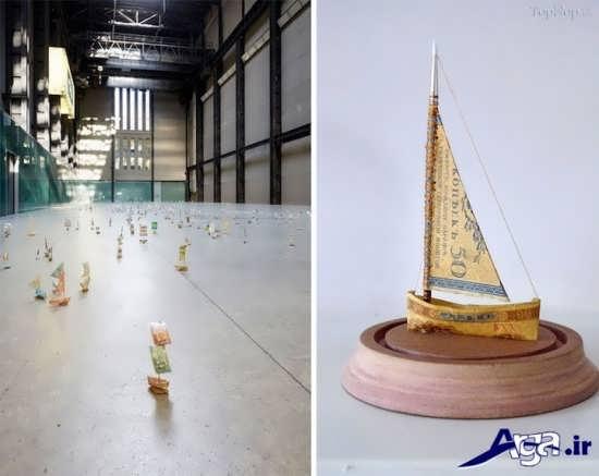 طرحهای زیبای قایق کاردستی