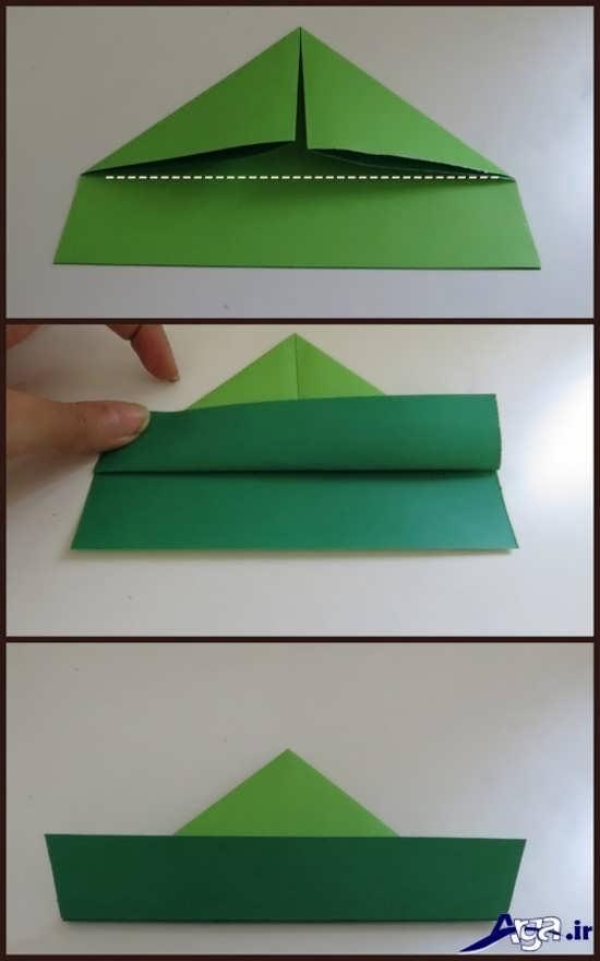 عکس ساخت قایق کاردستی با کاغذ