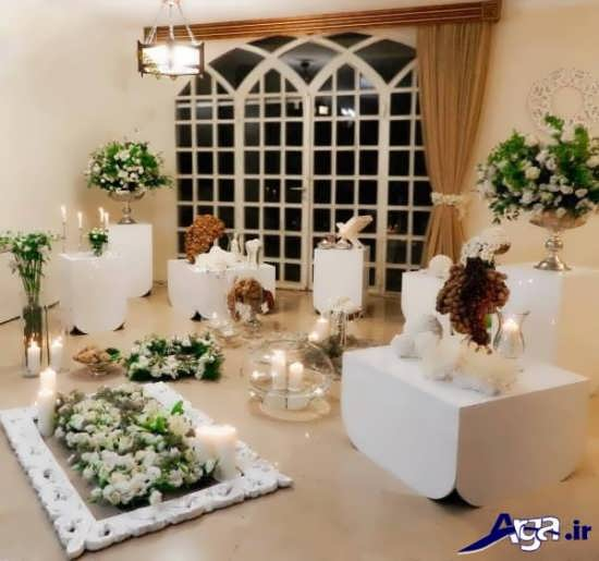 گلهای طبیعی برای تزیین سفره عقدهای ایرانی