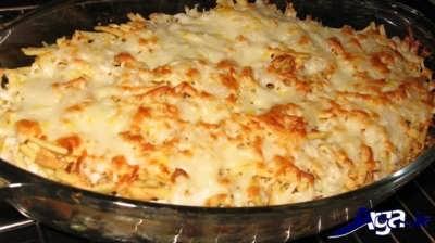 طرز تهیه گراتن مرغ و قارچ