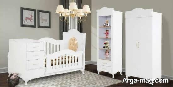 مدل تختخواب کودک سفید