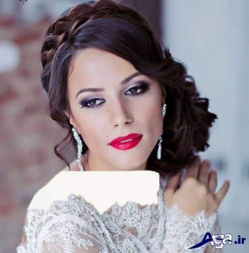 مدل آرایش صورت زیبا و حرفه ای عروس