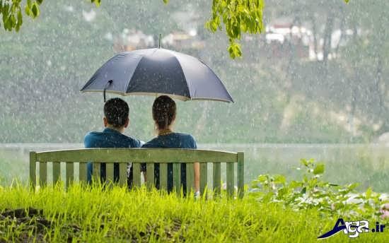 عکس های باران عاشقانه