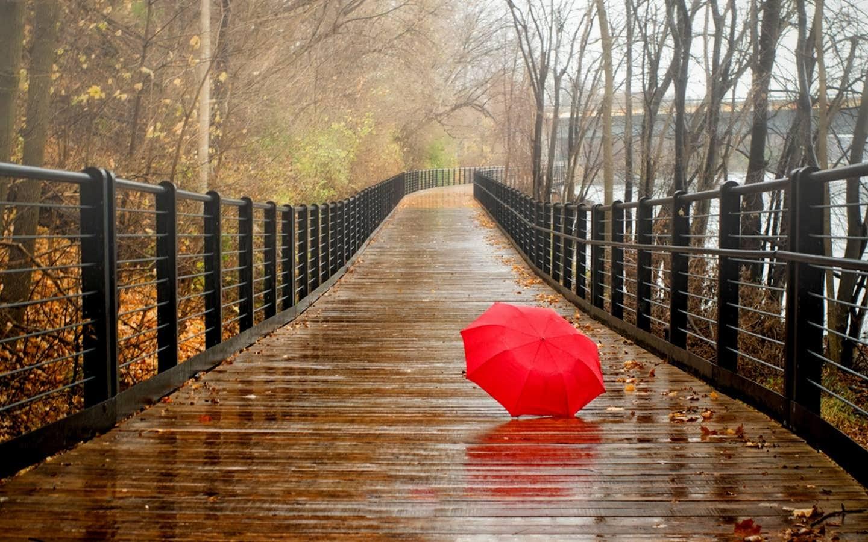 عکس نوشته باران پاییزی عاشقانه