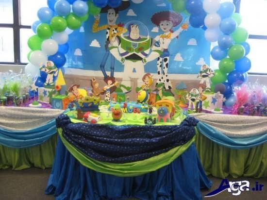 استفاده از رنگهای آبی در تزیین جشن تولد پسرانه