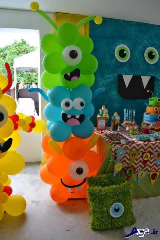اشکال مختلف رنگی برای جشنهای تولد کودکان