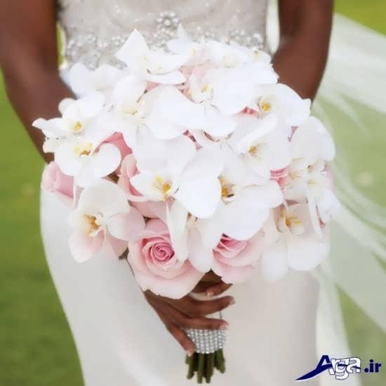 چیدمان و تزیینی متفاوت از دسته گل عروس