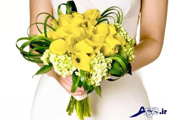 انواع تزیین دسته گل عروس باگل طبیعی