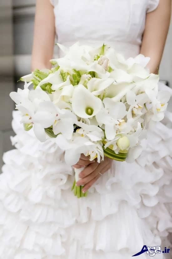 تزیین دسته گل ارکیده برای عروس