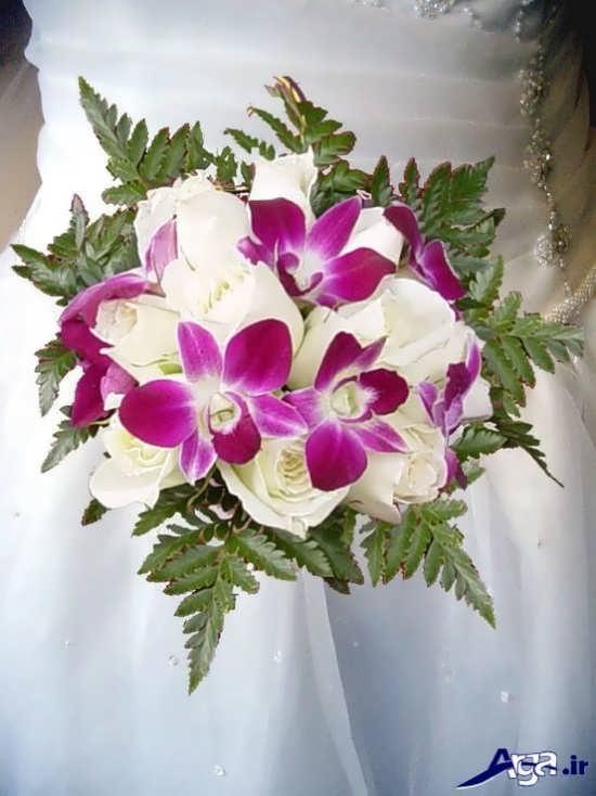 انواع دسته گل عروس با گل ارکیده