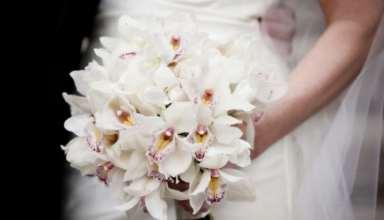 تزیین مدل دسته گل عروس با گل ارکیده