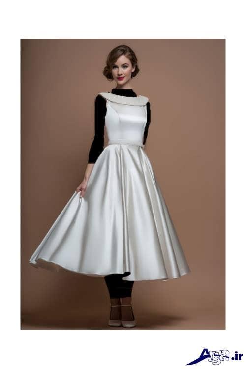 لباس عروس ساتن کوتاه