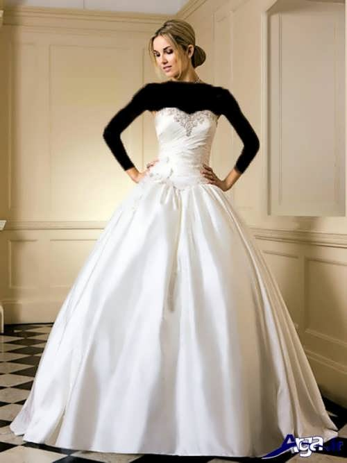 مدل لباس عروس پفی ساتن