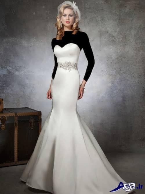 مدل لباس عروس شیک و متفاوت ساتن