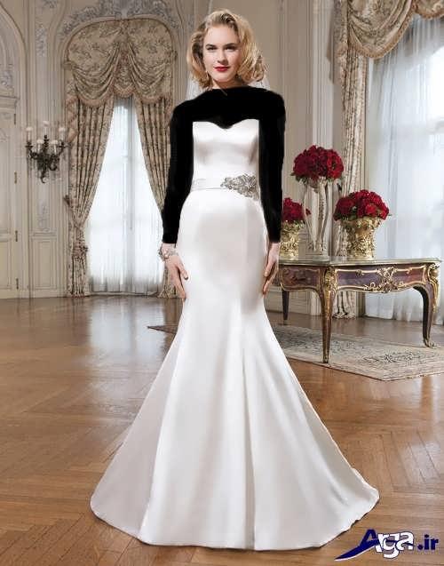 مدل لباس عروس ساتن دکلته