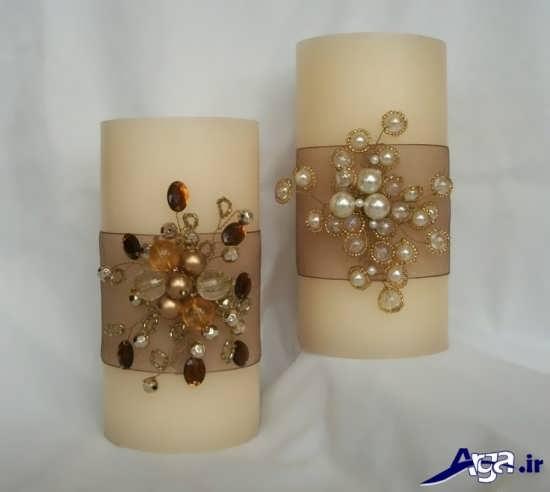 تزیینات زیبا و جالب برای شمع