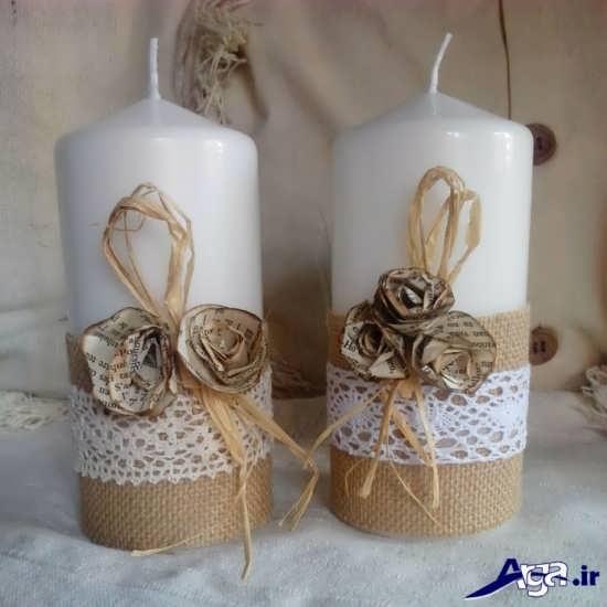 شمع با روبان کیسه ای
