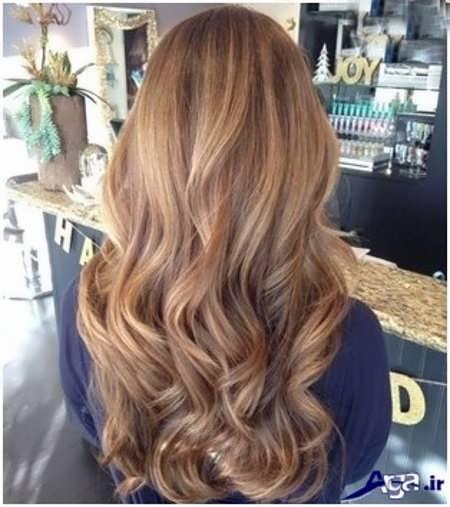 رنگ موی زیبا و جذاب عسلی شکلاتی