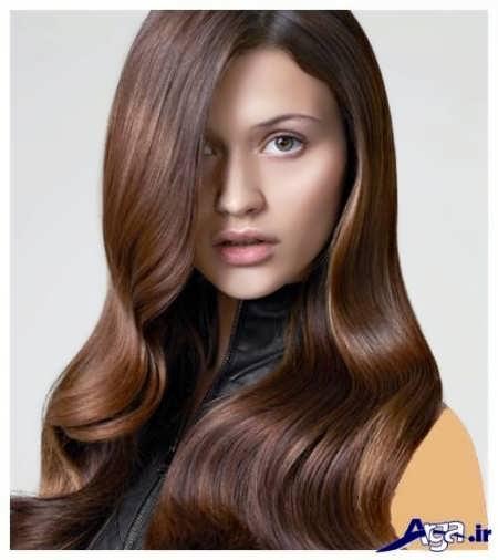 رنگ موی دخترانه عسلی شکلاتی