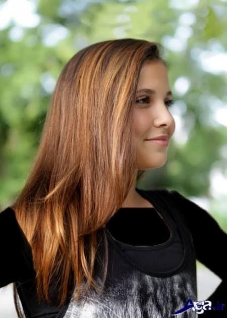 مدل رنگ موی عسلی