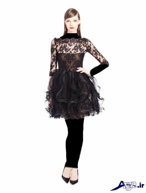 مدل لباس مجلسی دانتل دار دخترانه