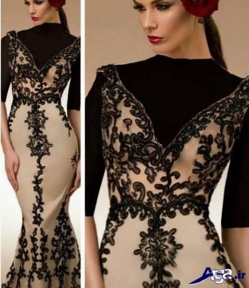 لباس مجلسی دانتل زیبا و شیک