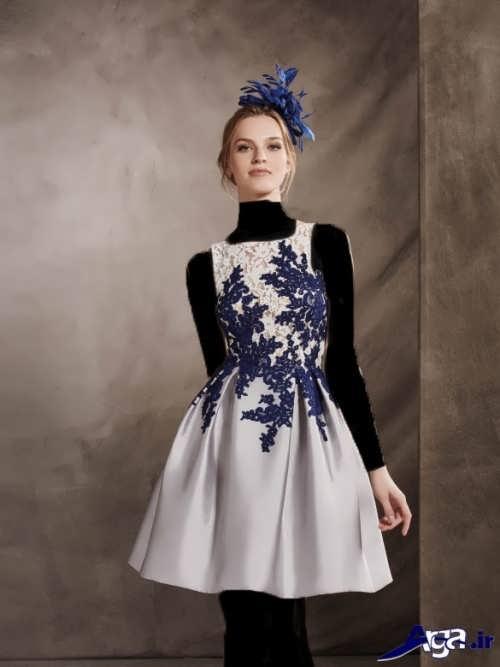 مدل لباس مجلسی کوتاه دانتل