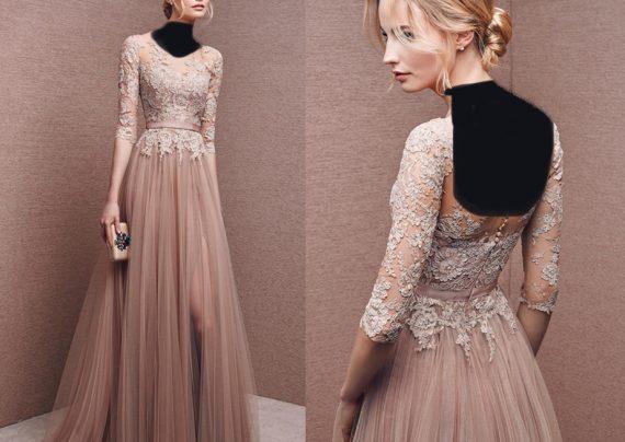 مدل لباس مجلسی دانتل دار زنانه و دخترانه