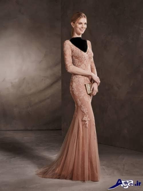 مدل لباس مجلسی دانتل دار شیک و زیبا