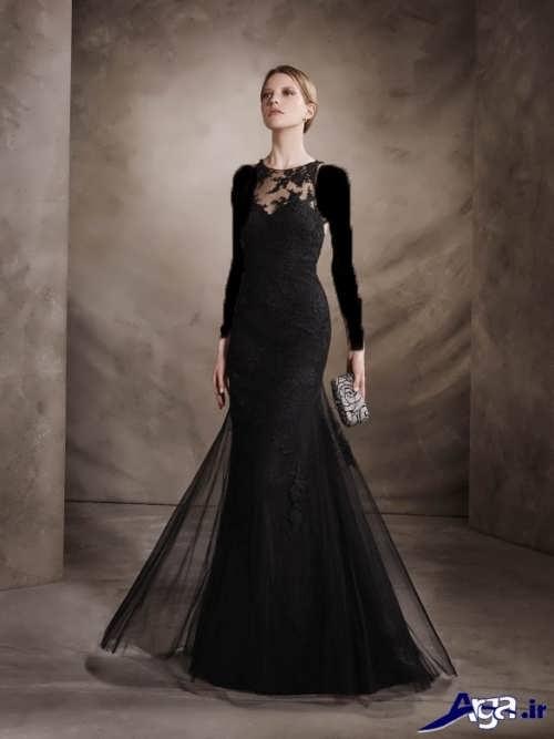 مدل لباس مجلسی مشکی دانتل