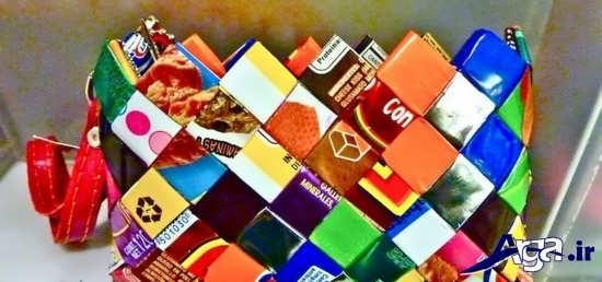 کاغذهای شکلات برای کاردستی کودکان