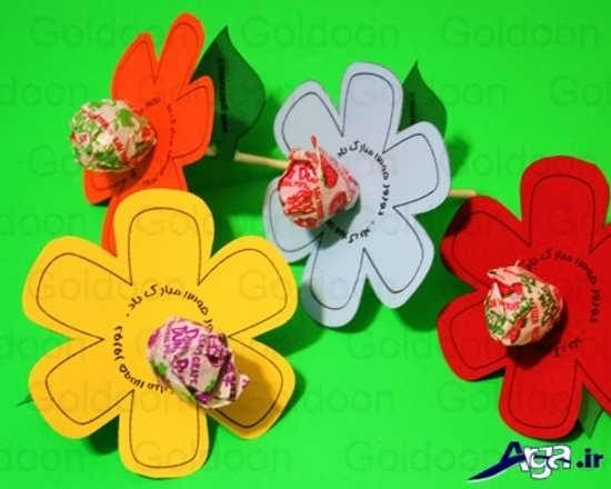 انواع ساخت گل کاغذی با پوست شکلات