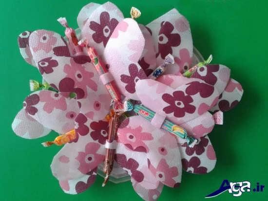 عکس کاردستی با پوست شکلات برای کودکان