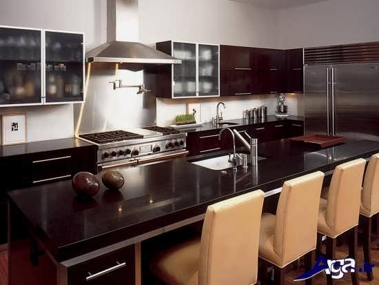 دکوراسیون های جدید آشپزخانه زرشکی