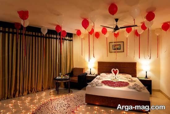 مدل های تزیین اتاق خواب عروس با شمع و گل