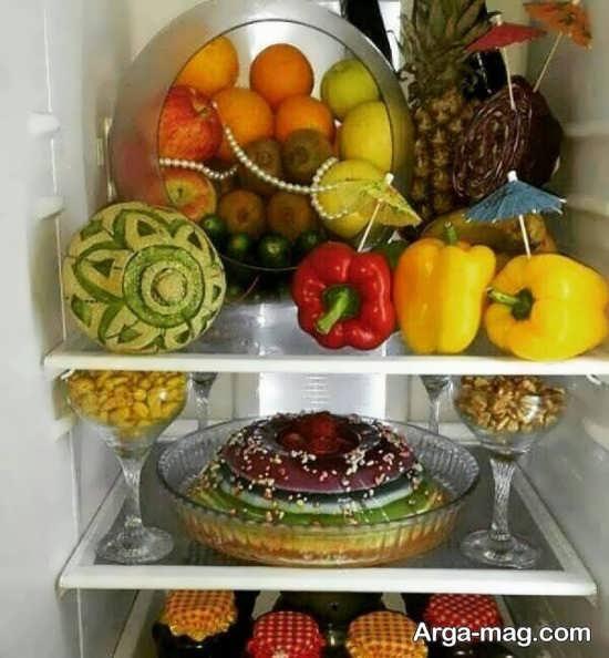 میوه آرایی یخچال نوعروس