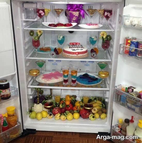 تزیین وسایل یخچال عروس با ایده شیک