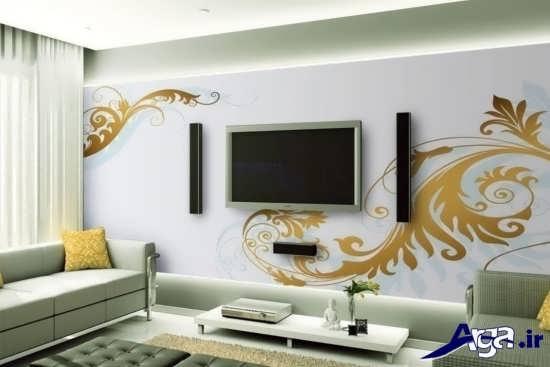 انواع طراحی و تزیین دیوار پشت ال سی دی