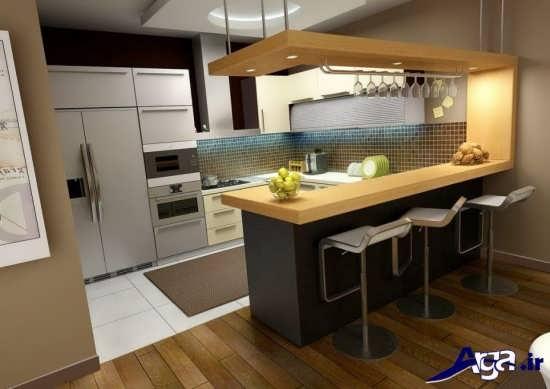 طراحی آشپزخانه های کوچک آپارتمانی